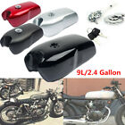 9L/2.4 Gallon Vintage Motorcycle Cafe Racer Seat Fuel Gas Tank +Cap Switch Steel $234.22 USD on eBay