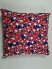 Throw Pillow Cover, Patriotic, Red, White, Blue,decor, Stars,  Handmade By Linda