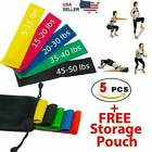 Workout Resistance Bands Loop Set CrossFit Fitness Yoga Booty Leg Exercise Band image