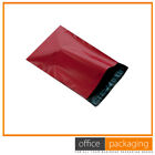 Red Strong Poly Plastic Mailing Postal Bags Multiple Sizes & Quantity