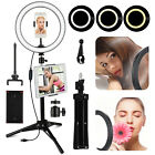 LED Ring Light Selfie Lamp w/ Stand & Dual Holder for Youtube Studio Live Stream