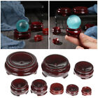 Seat Crystal Ball Base Wood Holder Miniature Display Stand Statue Pedestal