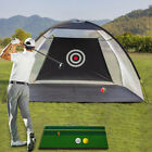 Golf Hitting Net with Target Sheet Training Aids with Carry Bag&3 Golf Balls&Mat