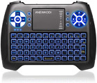 Anewkodi Mini Wireless Keyboard, Touchpad Mouse Combo With Backlit Multimedia Ke