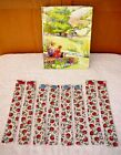 BOOKMARKS~ABC~123 APPLES~Fabric & Button~Set Of 2~Reversible~Washable~New