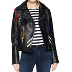 Bagatelle Women's Picasso Textured Leather Biker Jacket