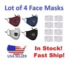 Kyпить Lot of 4 Sport Face Mask Reusable Respirator and/or Charcoal Filter Choose Color на еВаy.соm