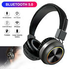 Wireless Headphones Bluetooth 5.0 Headset Over Ear Noise Cancelling w/Mic Earbud