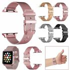 For Apple Watch Series 1/2/3/4/5 38/40/42/44mm Stainless Steel Strap Band iWatch image