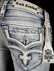 $180 Buckle Rock Revival 'Raven' Swarovski White Sequins Leather Inserts Boot