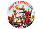Gta Grand Theft Auto 5 Computer Game Birthday Party Cake Decoration Icing Sheet