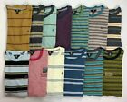 Mens Volcom Crew Striped Cotton T Shirt