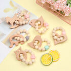 Grade Bracelet Wooden Baby Teether Chew Beads Beaded Decoration Teether Beads