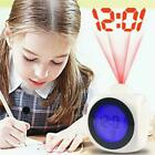 Alarm Clock Time Temperature Projector LED Digital LCD Projection W9Q4
