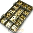 460 PIECE ASSORTED FLAT FORM A WASHERS KIT SOLID BRASS METRIC M3...