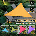 3/4/6M Waterproof Triangle Canopy Sun Shade Sail Garden Awning UV Block Cover US