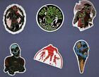 ZOMBIE STICKERS Collection 3 UNDEAD horror SKULL death HALLOWEEN scary GORE dead
