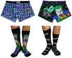Mens 2 pack The Joker Gotham Boxer Shorts & 2pk Socks Deal Bargain Christmas