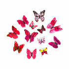 12pcs Butterfly Double Wings Art Wall Decal Magnetic Refrigerator Stickers Decor
