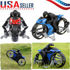 2In1 Motorcycle Mini Quadcopter 2.4G Land Air Dual Playing RC Drone Kid Toy O4T3