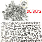 Wholesale 100/200pcs Mixed Silver Charms Pendants For Diy Jewelry Making Craft B
