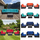 5 Pc Patio Pe Rattan Wicker Sofa Cushioned Sectional Set Outdoor Furniture Lawn