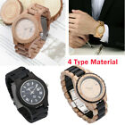 Luxury Men Watch Luminous Classic Natural Wooden Quartz Watch BS image