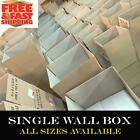 ROYAL MAIL SMALL BROWN PARCEL SIZE POSTAL CORRUGATED CARDBOARD BOXES *ALL SIZES*