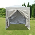 2x2m Pop Up Gazebo Garden Marquee Outdoor Wedding Party Tent Canopy 4 Sides