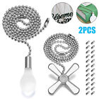 Ceiling Fan Pull Chain Beaded Extension 20ft Set Home Light Decor w/Connectors