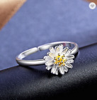 Daisy Ring 925 Silver Flower Jewellery Boho Summer Girls Ladies Adjustable  UK