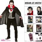 Mens Bloodthirsty Vampire Adult Count Dracula Gothic Halloween Fancy Dress