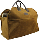 Heavy Duty Wax Canvas Log Carrier Tote,Large Fire Wood Bag,Durable Firewood Hold