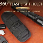 Tactical Flashlight Pouch Molle LED Torch Holster 360degree Rotatable Belt Carry