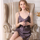 Natural Silk Womens Short Slips Classic V Neck Chemise w/ Adjustable Strap