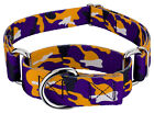 Country Brook Petz® Purple and Gold Camo Martingale Dog Collar