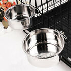 1x Dog Cage Crate Water Bowls Pet Hanging Removable Stainless Steel Feeding Bowl