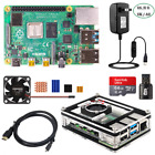 Raspberry Pi 4 Model B 2 4 8G RAM Starter Kit with 9-layer Case Fan 5V 3A Power