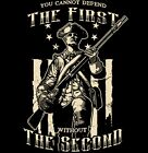 Patriotic T Shirt Can't Defend the First Without the Second Amendment Mens Size