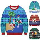 Mens Womens Christmas Sweater Sweatshirts Couple Funny Ugly Xmas Pullover Jumper