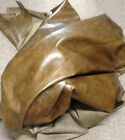 BR728 Leather Cow Hide Skin Cowhide Upholstery Craft Fabric Distressed Olive