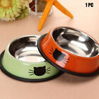 Stainless Steel Pet Supplies Food Feeding Anti Skid Drinking Water Cat Bowl Home