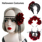Props Wedding Garland Halloween Headbands Hair Wreath Red Rose Crown