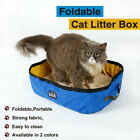 Pet Supply Oxford Cloth Folding Cat Litter Box Toilet Bedpan Outdoor Portable