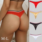 4 Pack Women Cotton Thong G-string Bikini Panties Briefs T-back Underwear Panty