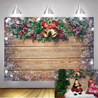Merry Christmas Backdrop Bokeh Snowflakes Wooden Board Photography Background