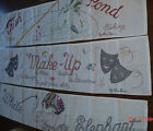 Huge Handmade Machine Embroidered Wall Hanging Banner by ANN BEER - Your Choice