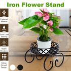 Single Layer Metal Standing Plant Rack Flower Shelf Garden Patio Decor Vintage.