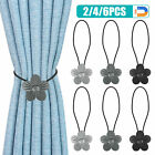 2/4/6PCS Magnetic Curtain Tie Backs Clips Ball Buckle Holder Home Window Decor