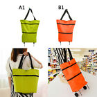 Shopping Trolley Cart Bag Foldable Wheels Carts Bag Market Luggage Oxford Basket